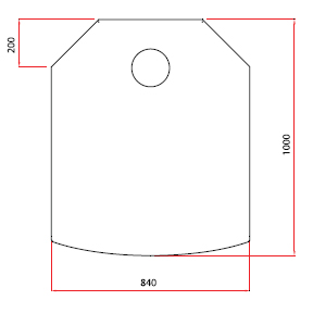 Golvplåt grå 840×1000 mm