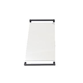 Extra sidoglas vid hörnplacering /par
