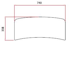 Golvplan marmor 740x338 mm