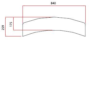 Golvplåt 840×175 mm