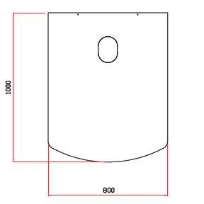 Golvplåt svart 800x1000 mm