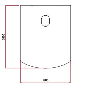 Golvskydd i glas 800×1000 mm