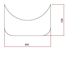 Golvplåt i mässing 800×690 mm