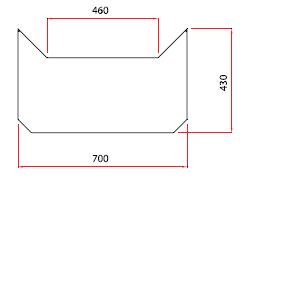 Golvplåt i mässing 700×430 mm