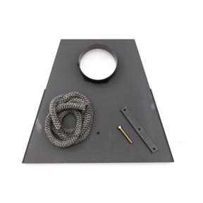Lock för anslutning till rökrör Ø 150 mm, rak modell