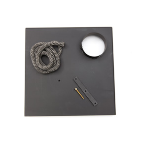 Lock för anslutning till rökrör Ø 150 mm, hörn modell